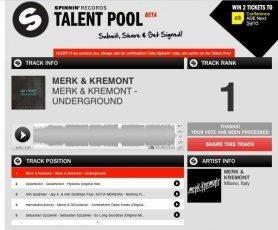 Audiobyray-Online-Digital-Audio-Mastering-Merk-and-Kremont-Underground-Spinnin-records-Talent-pool-no1