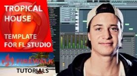 How to make tropical house.  FL Studio template +free flp