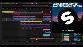 alok bruno martini feat zeeba he - Alok & Bruno Martini feat. Zeeba – Hear Me Now [Ableton project] Remake